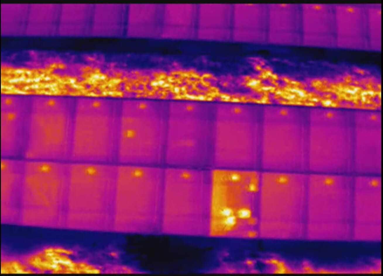 Analisi termografica - rilevamento difetti di celle del pannello