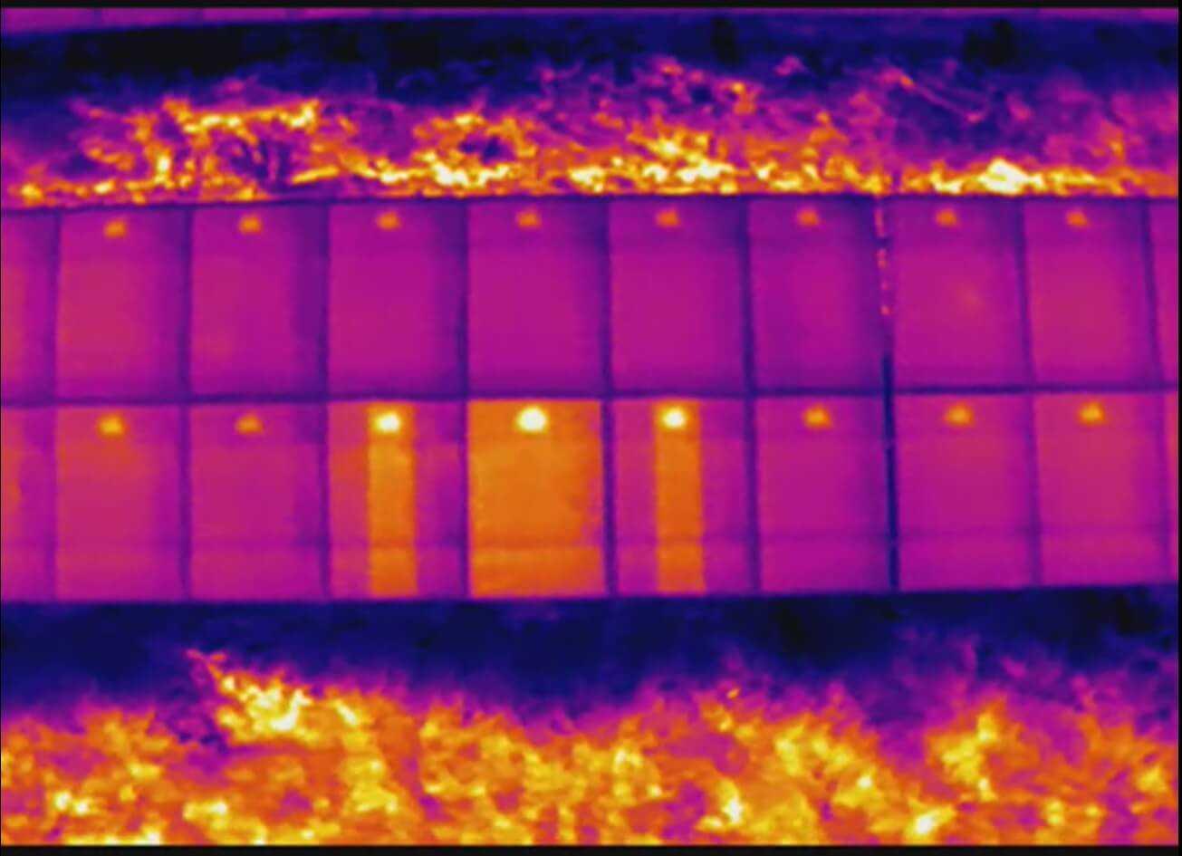 Analisi termografica - rilevamento difetti su array