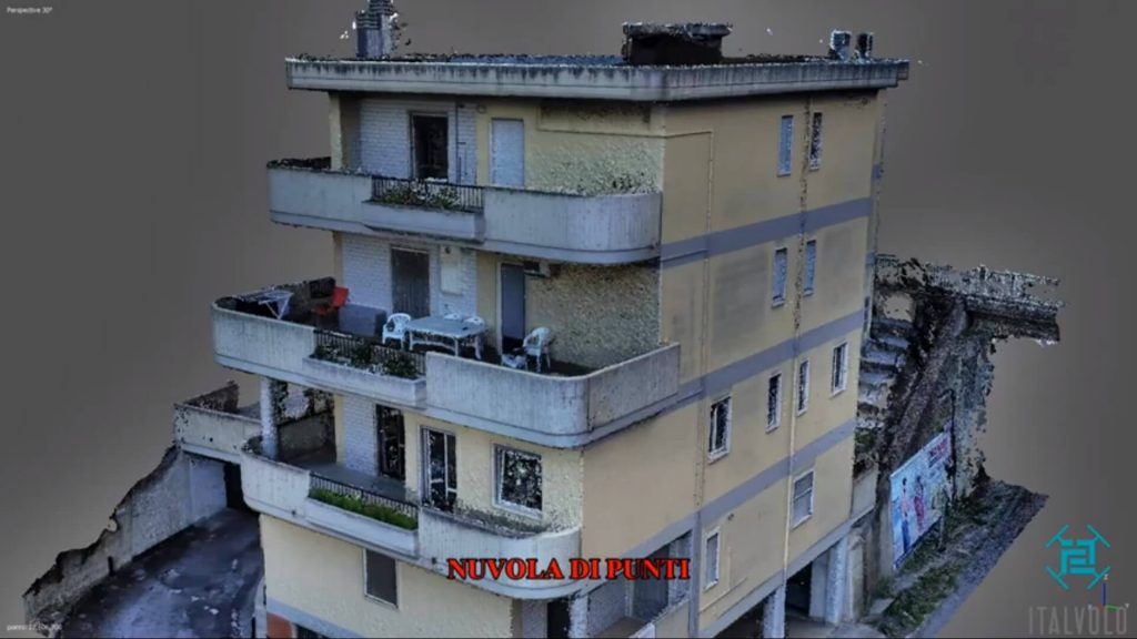 fotogrammetria - scansione di un palazzo