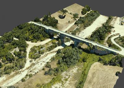 Fotogrammetria con drone: rilievo fotogrammetrico del letto di un fiume (località Trivento)