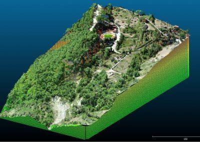 Rilievo con drone: DEM, ortofoto, curve di livello e piani di sezione a Castellino del Biferno (CB)