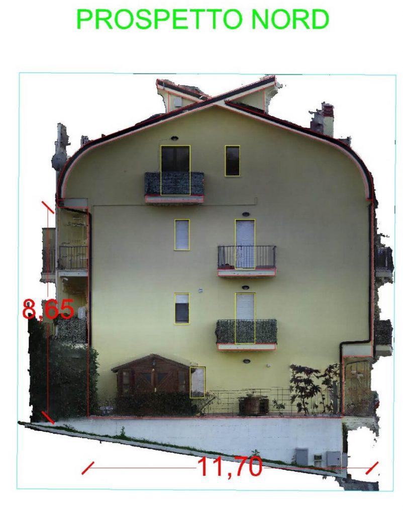 PIANTA E PROSPETTO NORD - Condominio Castel Frentano (CH)