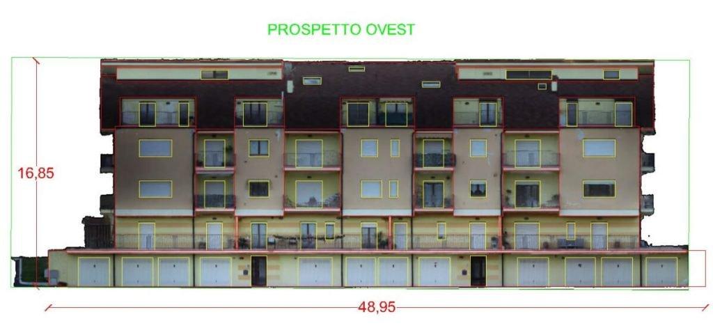 PIANTA E PROSPETTO OVEST - Condominio Castel Frentano (CH)